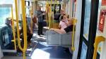 Taking the tram!